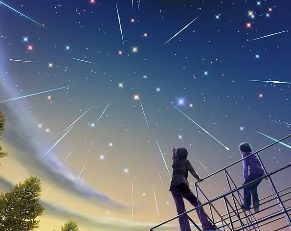 2012年11月11日夜至12日晨,北金牛座流星雨 辐射点:北金牛座.