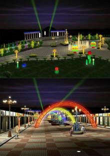 广场夜景照明设计