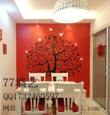 餐厅手绘墙设计