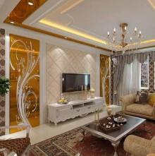 冠达满庭芳8z普通住宅3室2厅2卫美式装修案例效果图