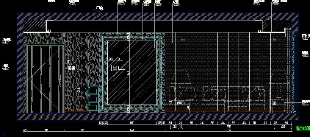 CAD 立面图制作