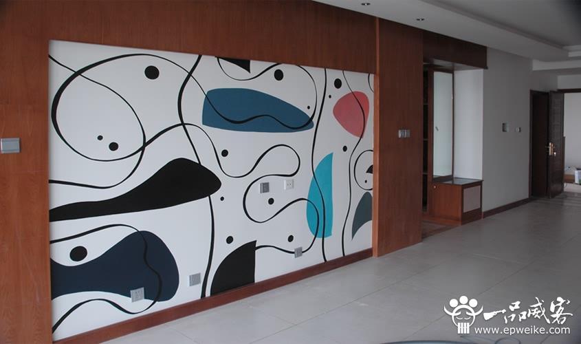 涂鸦进入居家最好的代表就是手绘墙的流行图片