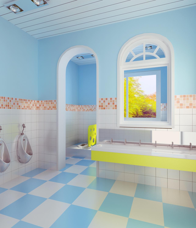 幼儿园卫生间01_沃尼欧艺术设计案例展示_一品威客网