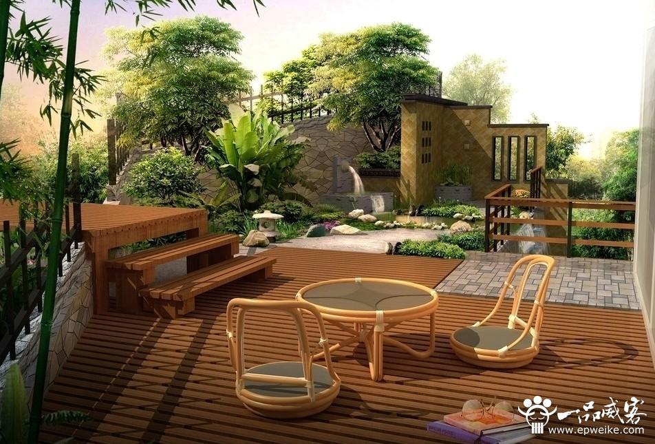 別墅庭院景觀設計效果圖2