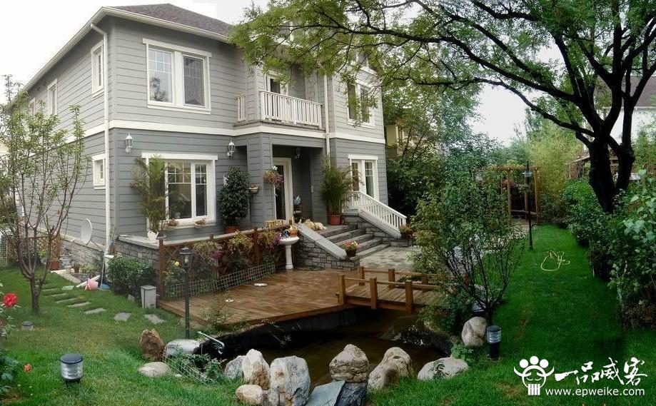 别墅庭院景观设计效果图1