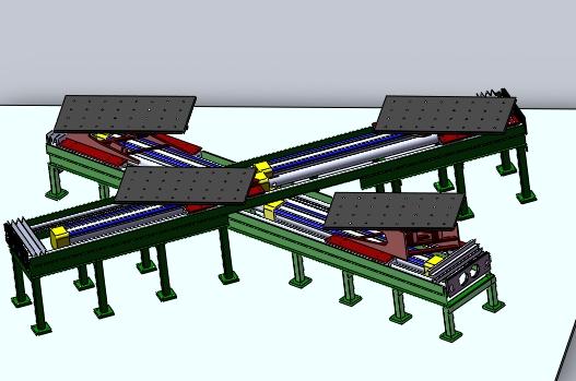 平台两侧是有2部焊接机械手的