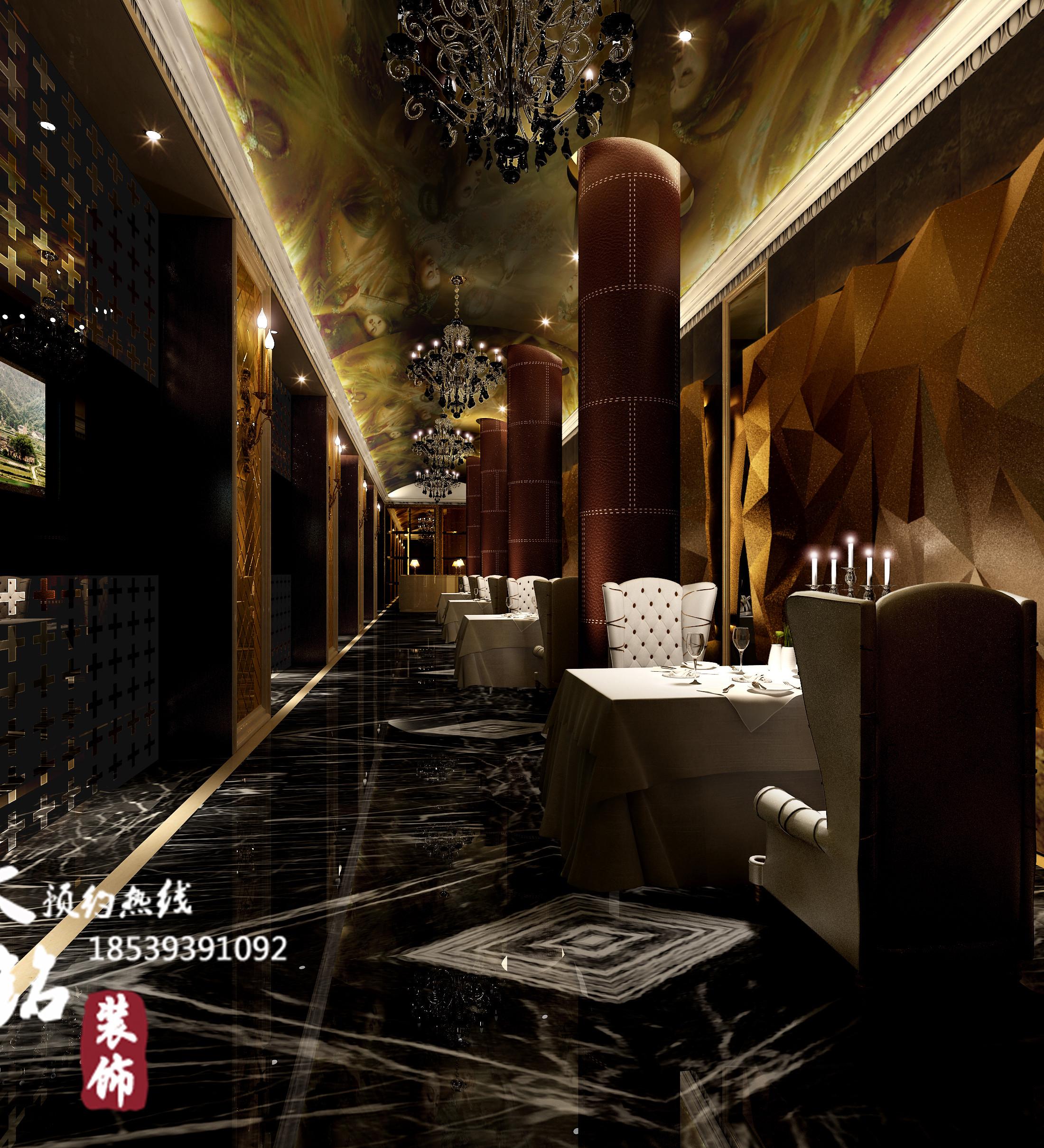 郑州丽景轩餐厅装饰设计
