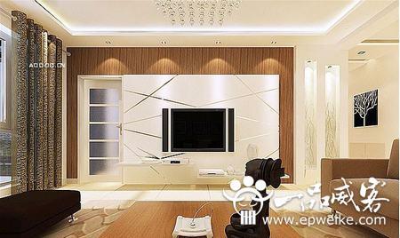 客厅电视机背景墙设计装修风水禁忌
