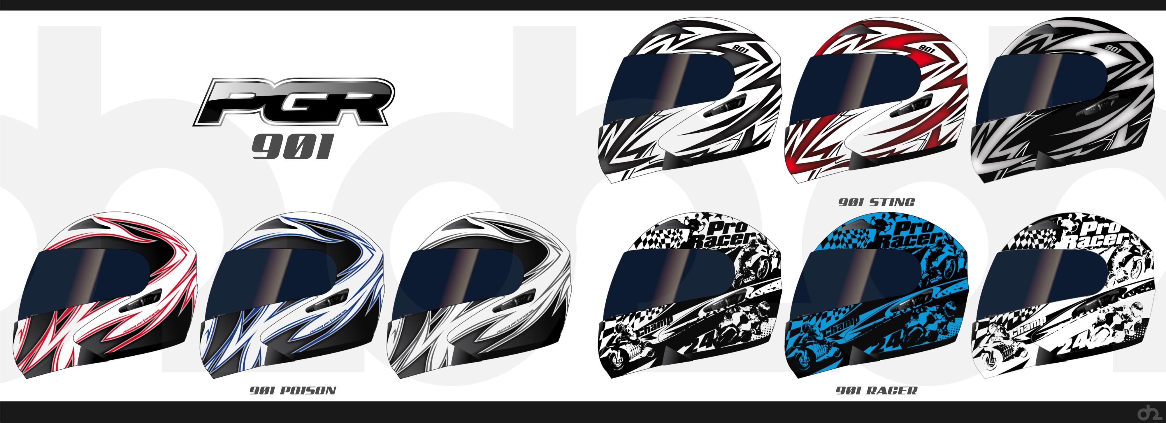 欧美风格越野头盔贴花设计(急)