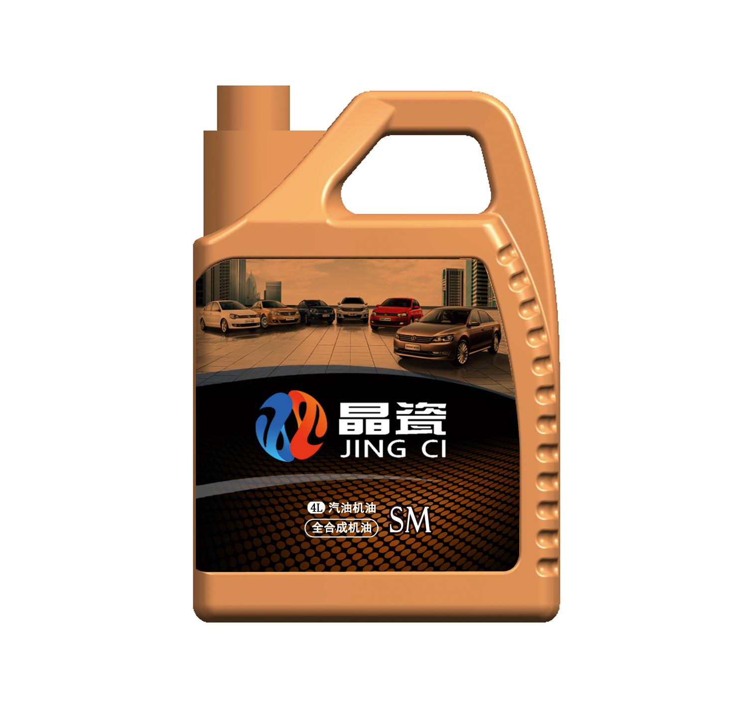 """""""晶瓷""""牌汽油机油4l包装壶标贴设计"""