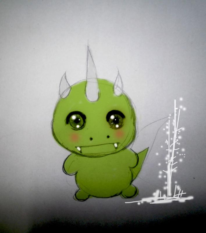 手绘小恐龙吉祥物