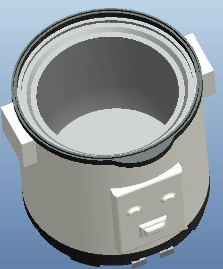 简易电饭煲内部结构设计