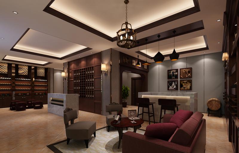 酒庄木板墙壁专柜