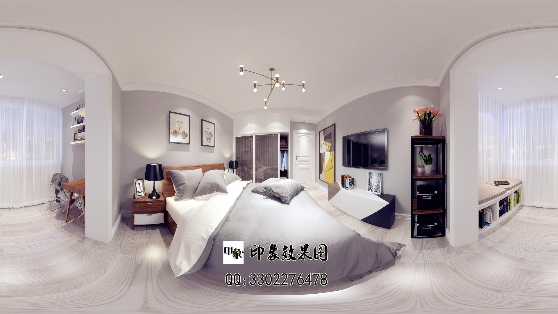 360全景现代风格装修_印象家装设计联盟案例展示_一品