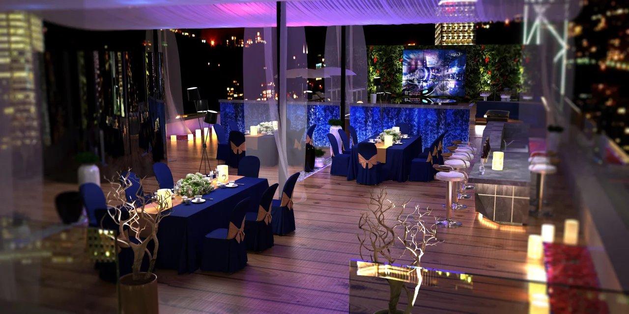楼顶音乐餐吧_tr设计工作室案例展示_一品威客网图片