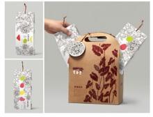 水果茶 和毛巾包装