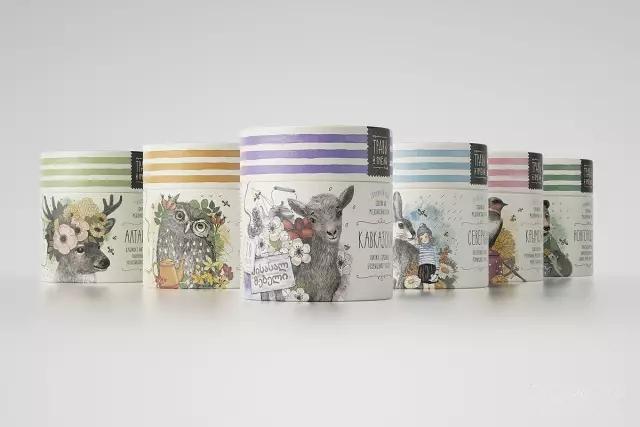 这样的花茶包装设计不要太美了!让人都想买一份