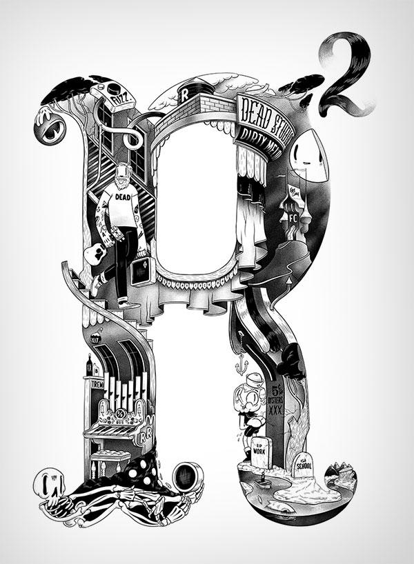 超赞的国外个性字体设计欣赏