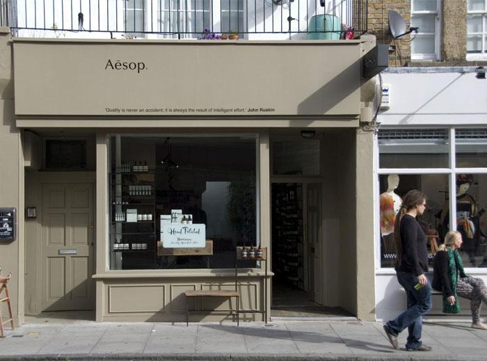 美容护肤品牌Aesop店铺设计