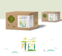 稻壳材质餐具艺术字体与包装设计