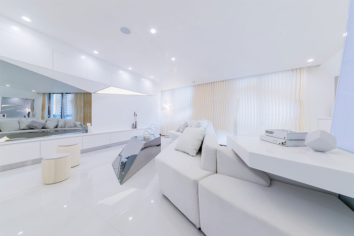 酷炫的未来派风格家居装修设计