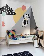 5款创意手绘儿童房背景墙效果图
