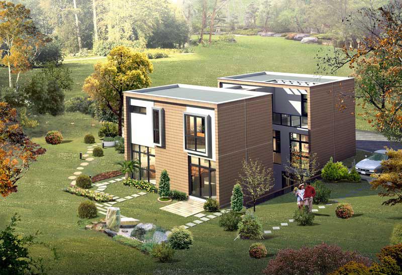 农村兄弟双拼小别墅设计图,这个设计绝对超乎你想像