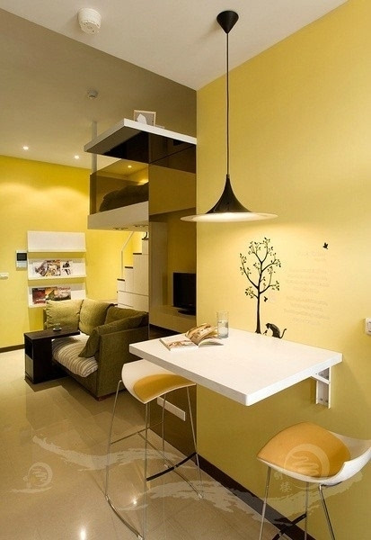 单身公寓怎么设计?10款温馨的单身公寓室内设计案例欣赏