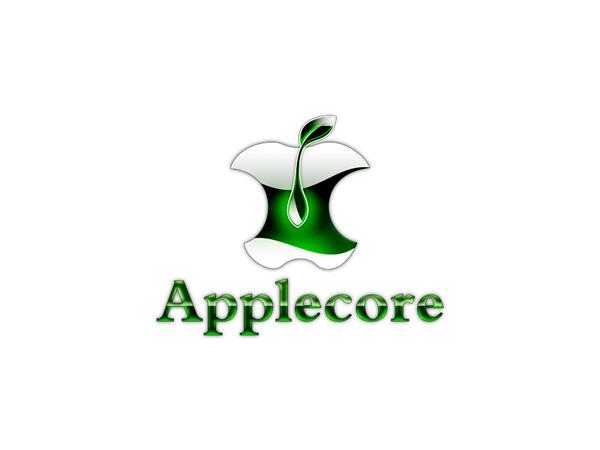 苹果核商标logo设计