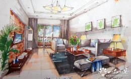 手绘室内效果图制作要素 手绘室内设计效果图设计制作