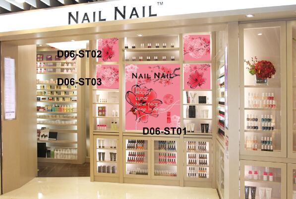 香港NAILNAIL橱窗产品展示柜