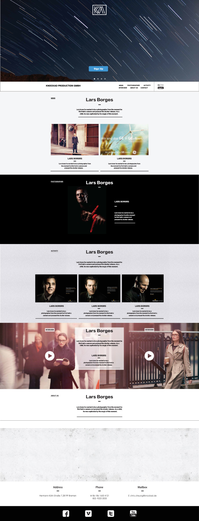 摄影平台网站设计