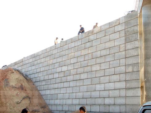 挡土墙设计的横向布置法