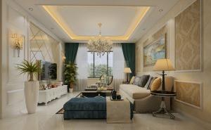 咸阳城市人家简欧风格家庭装修之美的大方