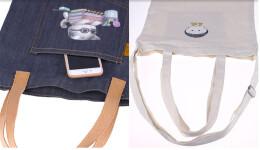 一款可以折叠的帆布手提袋设计
