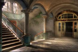 欧式建筑内部楼梯图片