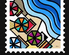 希腊景点之美做成的邮票设计欣赏