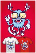 可爱的怪物T恤设计