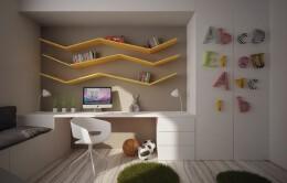 16个创意儿童房墙面装饰装修效果图