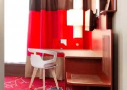 红色主题宾馆室内装修效果图欣赏