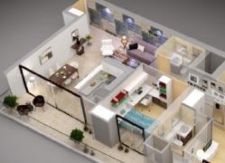 国内设计师原创的3D室内装修效果图案例分享