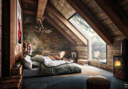漂亮的阁楼小卧室装修设计案例欣赏