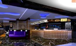 现代高档的大型网吧吧台装潢设计欣赏