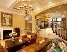 古典风格的楼梯设计展现欧式风情的魅力