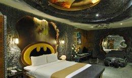蝙蝠侠主题的汽车旅馆客房设计