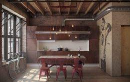 超好看的工业风格餐厅装修设计