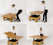 创意折叠家具长这样,折叠隐藏式家具设计