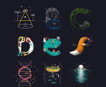 2019脑洞大开的创意字母设计欣赏