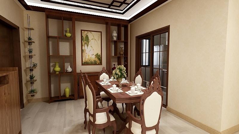 现代中式风格《室内》效果图