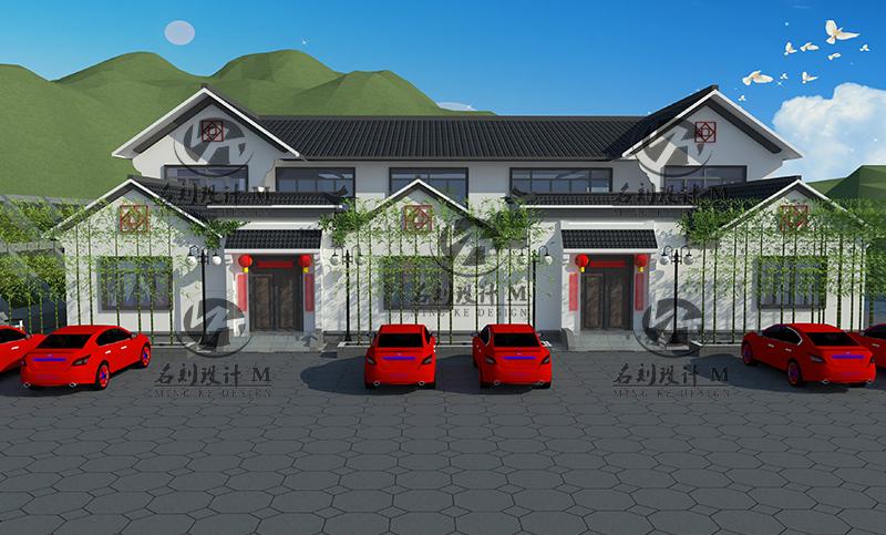 四合院兄弟双户型设计28.9米×23.3米主体二层